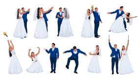 Wedding couple set 2 Royalty Free Stock Images