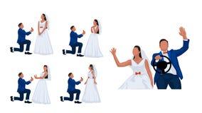 Wedding couple set 4 Stock Images