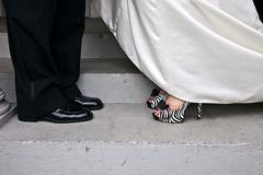Wedding couple shoes Royalty Free Stock Image
