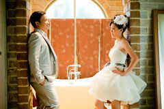 Wedding couple show concept of love Royalty Free Stock Image