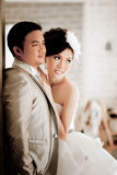 Wedding couple show concept of love Stock Photography