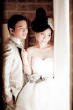 Wedding couple show concept of love Royalty Free Stock Photos