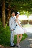 Wedding couple show concept of love Stock Image