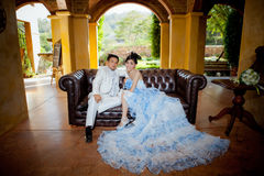Wedding couple show concept of love Stock Photo