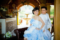 Wedding couple show concept of love Royalty Free Stock Photography