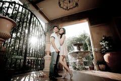 Wedding couple show concept of love Stock Photos