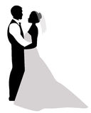 Wedding Couple Silhouette Stock Photos