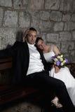 Wedding couple smiling Royalty Free Stock Image