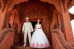 Wedding couple in Thai style, Royalty Free Stock Image