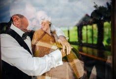 Wedding couple together Stock Image