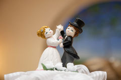 Wedding  couple topper Stock Photos