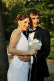 Wedding couple on tree Royalty Free Stock Photos
