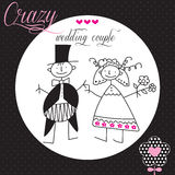 Wedding couple vector illustration Stock Images
