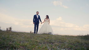Wedding Couple Walk stock footage