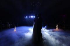 Wedding couple waltz Royalty Free Stock Photos