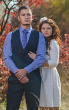 Wedding couple. Young couple embracing on nature background. Wedding. Love Royalty Free Stock Images