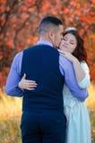 Wedding couple. Young couple embracing on nature background. Wedding. Love Stock Photo