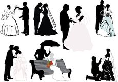 Wedding couples collection Stock Image