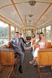 Wedding couples. Married couples in the tram, Belgrade, Serbia Stock Photography
