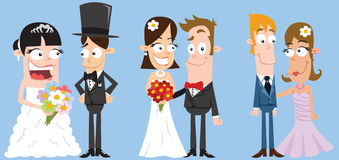 Wedding Couples Royalty Free Stock Images