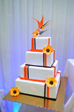 Big wedding cake royalty free stock image