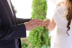 Wedding Cremony in Yard Royalty Free Stock Photos