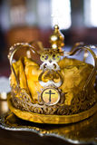 Wedding crown. In the church closeup Royalty Free Stock Photo