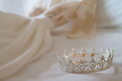 Wedding crown  on a white background Royalty Free Stock Photos