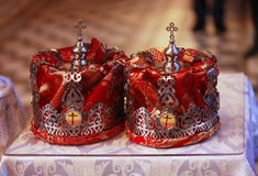 Wedding crowns Royalty Free Stock Images