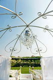 Wedding crystal chandelier Royalty Free Stock Photography