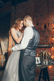 Wedding crystal love. European wedding day in stylizing photoset Stock Image
