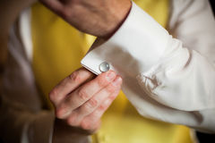 Wedding Cufflink Stock Images