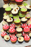 Wedding cup cakes. Look colorful at reception Stock Photos