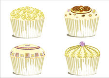 Wedding cupcake Royalty Free Stock Photos