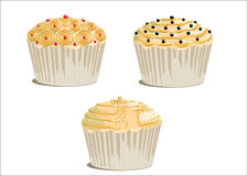 Wedding cupcake Stock Image