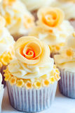 Wedding cupcakes royalty free stock photos