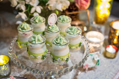 Wedding cupcakes Royalty Free Stock Images