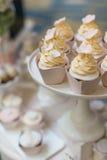 Wedding cupcakes Royalty Free Stock Image