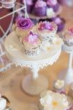 Wedding cupcakes Stock Photos