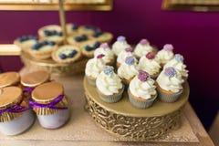 Wedding cupcakes Stock Photography