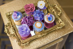 Wedding cupcakes. Wedding cakes at a wedding party Royalty Free Stock Images