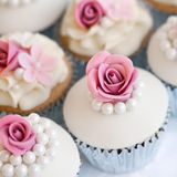 Wedding cupcakes Stock Photography