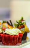 Wedding cupcakes. Stock Photos
