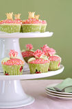 Wedding cupcakes on tiered cakestand Royalty Free Stock Photo