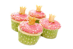 Wedding cupcakes on white background Royalty Free Stock Images