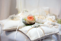 Wedding cushions Stock Photography