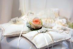 Wedding cushions Stock Photography