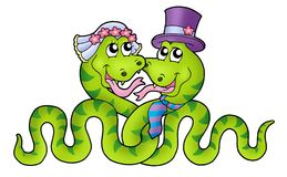 Wedding with cute snakes Royalty Free Stock Photo