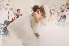 Wedding d'abord la danse photo stock