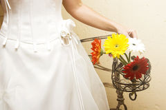 Wedding daisies royalty free stock image